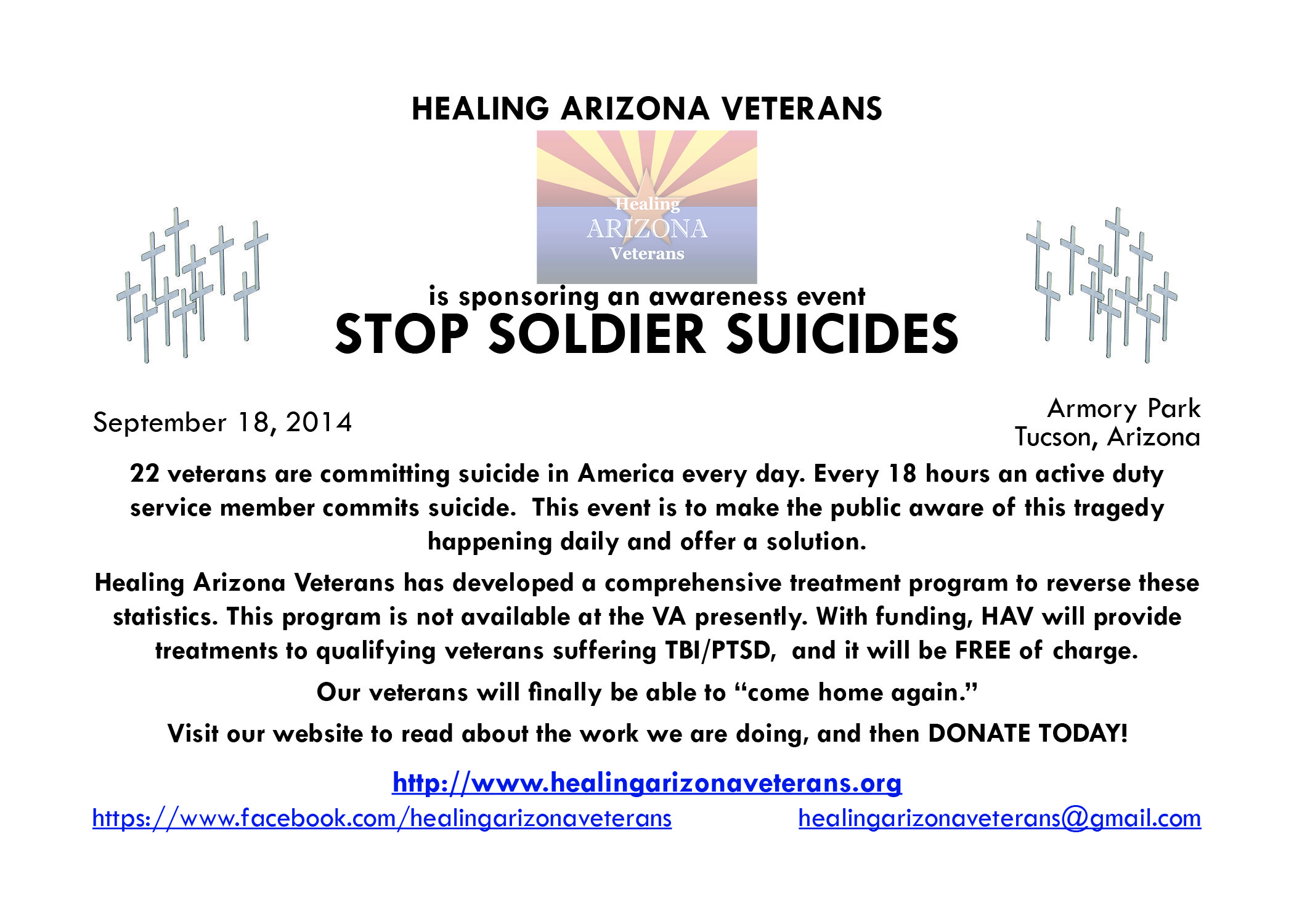 STOP SOLDIER SUICIDES Awareness event information