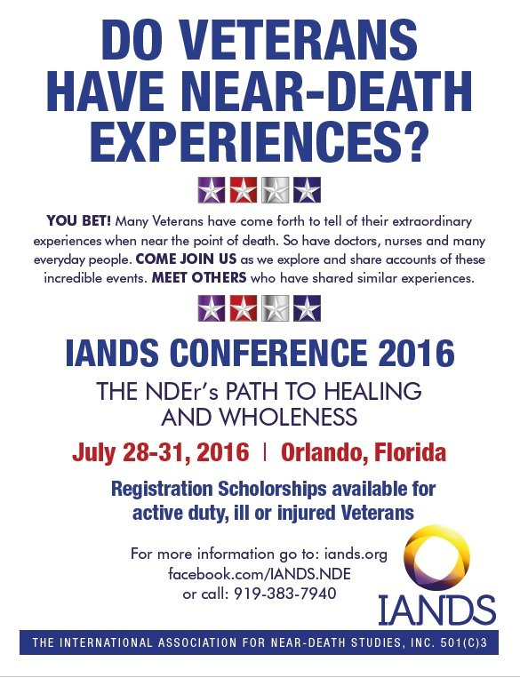 20160728-31 IANDS Conference veterans flyer pic